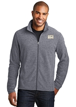 Heather Microfleece Full-Zip Jacket