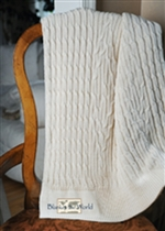 USMS Cable Knit Throw