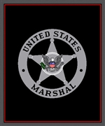 USMS Badge Knit Throw