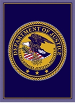 US Department of Justice Knit Logo Throw