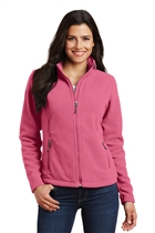Ladies Polar Fleece Jacket w/USMS Seal-Pink in Pink Blossom, 2XL