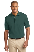 Cotton Polo Shirt w/USMS Seal-Mono in Dk Green, Small