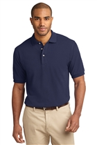 Cotton Polo Shirt w/USMS Seal-Mono in Navy, XL