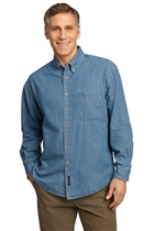 Denim Shirt w/USMS Badge in Faded Blue, Small