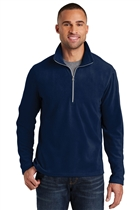 Microfleece ¼ Zip Pullover w/ ATF Seal; Navy; Small