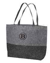 Large Felt Tote with Monogram