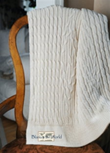 ATF  Cable Knit Throw