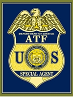 ATF Badge Knit Throw