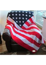 DHS American Flag Knit Throw