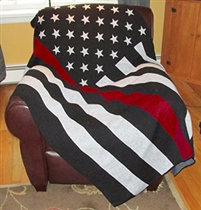 Red Line Flag Knit Throw